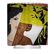 Triple Face Shower Curtain
