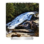 Triple Falls II Shower Curtain