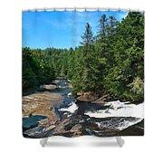 Triple Falls North Carolina Shower Curtain