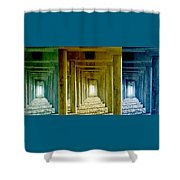 Triple Perspective Shower Curtain