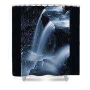 Triple Plunge Twilight Waterfall Shower Curtain