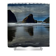 Triple Reflections Shower Curtain by Adam Jewell