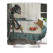 Tripod And Bowl Of Fruit Shower Curtain