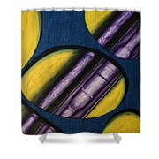 Tripping Pipe Shower Curtain