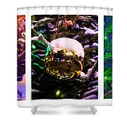 Triptych - Christmas Decoration - Featured 3 Shower Curtain