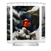 Triptych - Christmas Forest - Featured 3 Shower Curtain