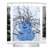 Triptych - Christmas Trees And Snowman - Featured 3 Shower Curtain