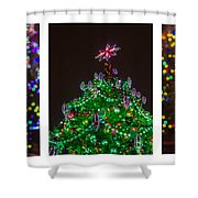 Triptych - Christmas Trees - Featured 3 Shower Curtain
