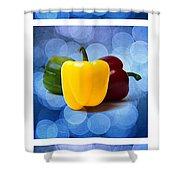 Triptych - Pepper Traffic Lights 2 Shower Curtain