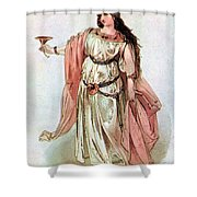 Tristan And Isolde, 1865 Shower Curtain