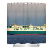 Tristan Cargo Ship - Puget Sound Seattle Washington  Shower Curtain