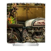 Triton Motorbike Shower Curtain