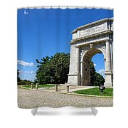 Triumph And Sorrow Arch  Shower Curtain