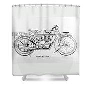 Triumph-bat 750c.c. Shower Curtain