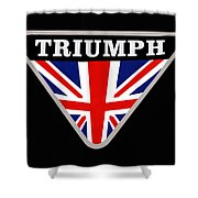 Triumph Emblem Shower Curtain