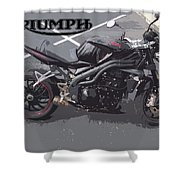 Triumph Motorcycle Shower Curtain