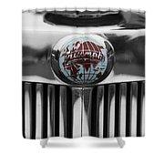Triumph Roadster Emblem Selective Color Shower Curtain