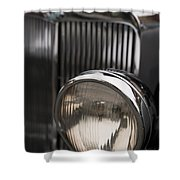 Triumph Roadster One Headlight Shower Curtain