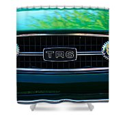 Triumph Tr 6 Grille Emblem Shower Curtain