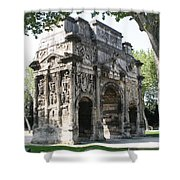 Triumphal Arch - Orange Provence Shower Curtain