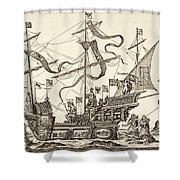 Triumphal Vessel Shower Curtain