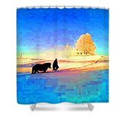 A Very Cold Winter Can Give Warmth To Your Heart  Shower Curtain