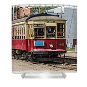 Trolley Car At The Fort Edmonton Park Shower Curtain