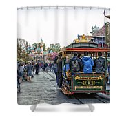 Trolley Car Main Street Disneyland 01 Shower Curtain