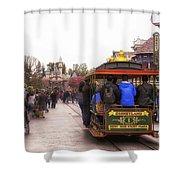 Trolley Car Main Street Disneyland 02 Shower Curtain
