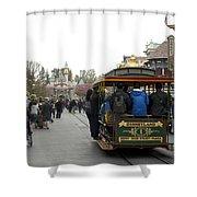 Trolley Car Main Street Disneyland 03 Shower Curtain