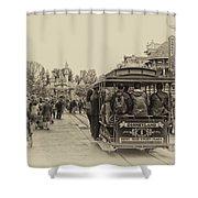 Trolley Car Main Street Disneyland Heirloom Shower Curtain