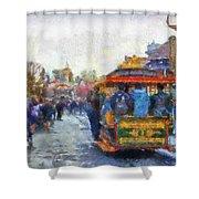 Trolley Car Main Street Disneyland Photo Art 02 Shower Curtain
