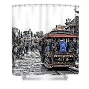 Trolley Car Main Street Disneyland Sc Shower Curtain