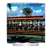Trolley Stop Shower Curtain