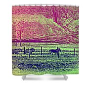 Now And Then You Dream Of The Old Fields Back Home  Shower Curtain
