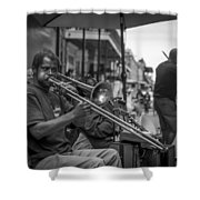 Trombone In New Orleans 2 Shower Curtain by David Morefield