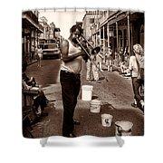 Trombone Man On Royal St. New Orleans Shower Curtain