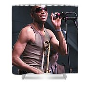 Musician Trombone Shorty Shower Curtain