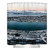 Tromso From The Mountains Shower Curtain