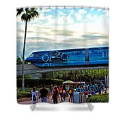 Tron Monorail At Walt Disney World Shower Curtain by Thomas Woolworth