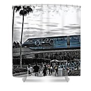 Tron Monorail Wdw In Sc Shower Curtain by Thomas Woolworth