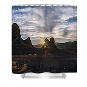 Trona Sunburst Shower Curtain