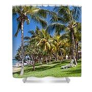 Tropical Beach I. Mauritius Shower Curtain