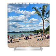 Tropical Beach In Port Dover Shower Curtain