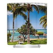 Tropical Beach. Mauritius Shower Curtain