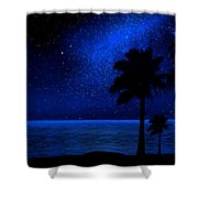 Tropical Beach Wall Mural Shower Curtain