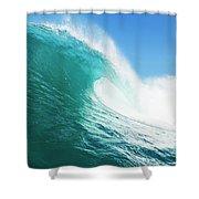 Tropical Blue Ocean Wave Shower Curtain