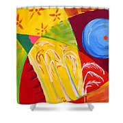 Tropical Bound Shower Curtain