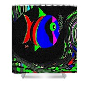Tropical Cave Fish 1 Shower Curtain