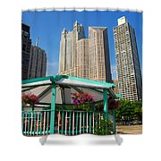 Tropical Chicago Shower Curtain